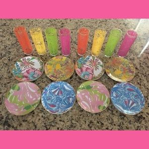 Lilly Pulitzer Target 16 pieces plates glasses set